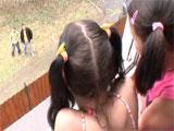 Dos hermanas con ganas de rabo