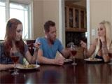 Mi novia y yo cenamos en casa de mama