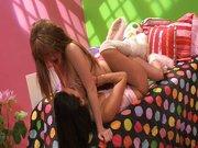 Fiesta de pijamas en la webcam porno