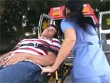 Las enfermeras de la ambulancia